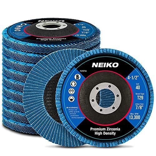 NEIKO 11257A High Density Zirconia Flap Disc | 4.5