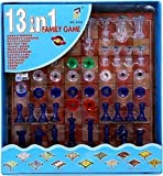 Visahl Smart Mall 13 in 1 Magnetic Chess, Snake & Ladder, Backgammon, Tic-Tac-Toe