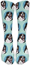 Funny Bernese Mountain Dog Face Unisex Novità Calf High High Calzini atletici Fashional Tube Calze Taglia 6-10