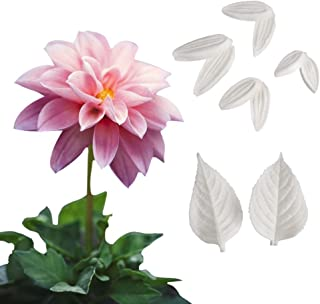 AK ART KITCHENWARE Sugar Paste Flower Veining Molds Petal Veiners Fontant Mold Cake Craft Tools (dahlia)