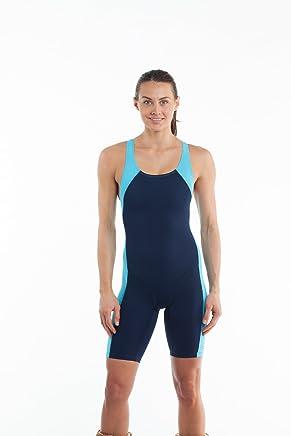bc238b272a Eqswimwear Women's Glide Unitard Navy Sky