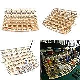 Tutoy 60 pentole in Legno Acrilico Colore Vernici Bottiglia Vernice Shelf Storage Rack Supporto Desk Organizer