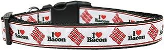 Mirage Pet Products I Love Bacon Nylon Dog Collars, Large