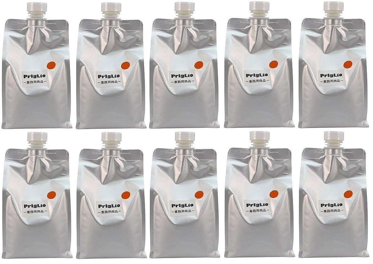 フリル真空透明に【10個セット】BJC プリグリオ D ヘアー サプリメント オレンジ 900ml
