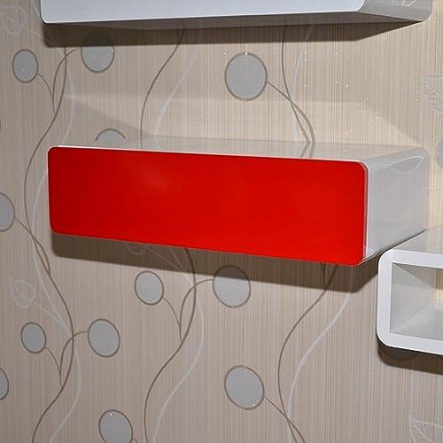 Shelf Wandgestell, Trennwand, kreative Wand Schublade Wand, Kommode HinterGründ Wand Rahmen (Farbe   Rot)