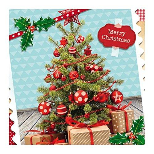 Susy Card 40003122 Weihnachts-Grußkarte, 3D Effekt, Motiv: Xmas Tree