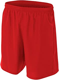 New Woven Soccer Shorts Moisture Wicking Comfort Odor & Stain Resistant (6 Colors, 10 Youth & Adult Sizes)