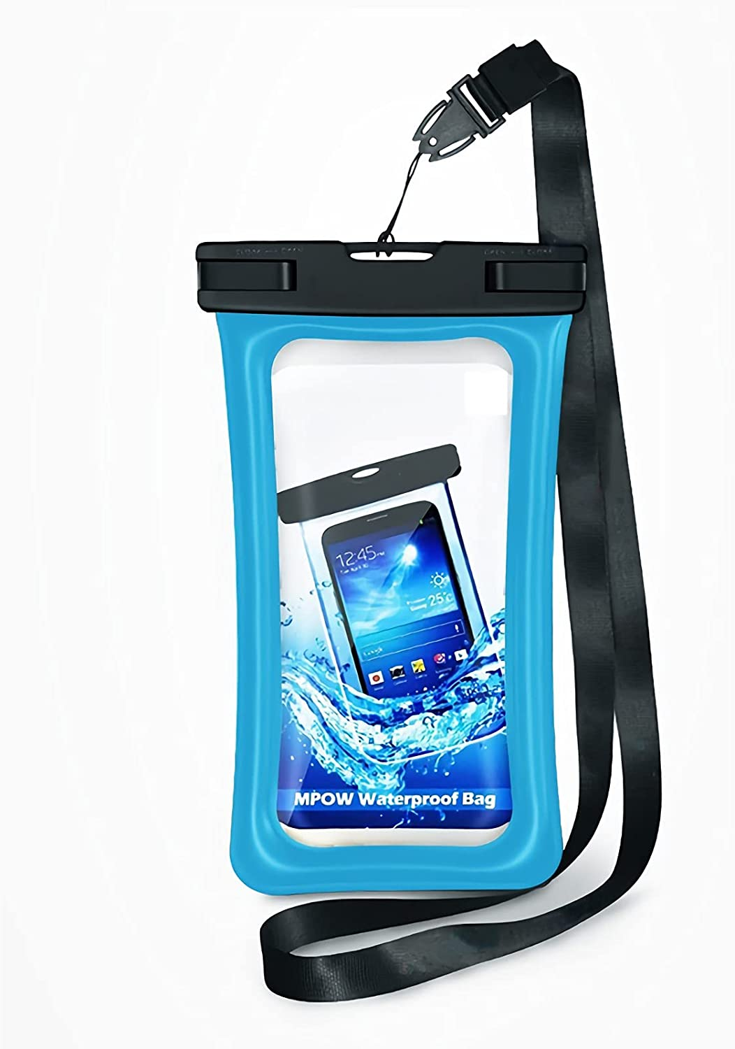 """Water Proof Bag Packs Neck Pouch Cell Phone Bag Waterproof for Phone Pouch Floating Universal Waterproof Pouch Cellphone Dry Bag Case All Phones Up to 6.5"""" (Sky Blue, L)"""