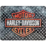 Nostalgic-Art Targhe Vintage Harley-Davidson – Diamond Plate – Idea Regalo per Amanti di Moto, in Metallo, Design Retro per Decorazione, 15 x 20 cm