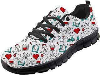 chaqlin Baskets pour homme - Imprimé dents - Chaussures de course - Chaussures de course - Légères - Pour femme - Pointure...