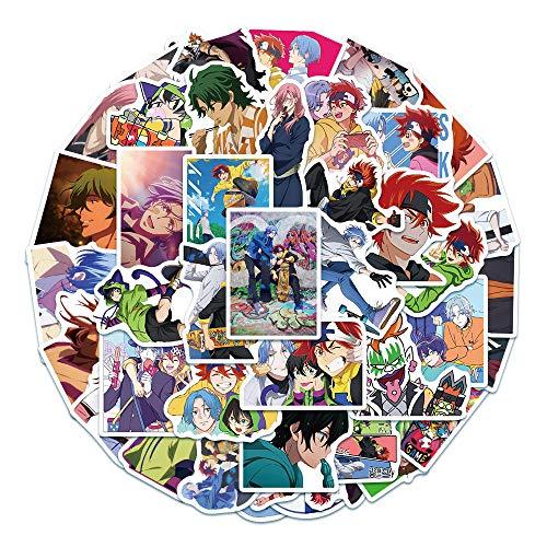 50 pegatinas de dibujos animados para monopatín, equipaje, maleta, monopatín, batería, coche, casco, pegatinas impermeables