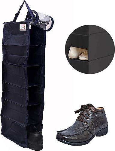 Canvas Black Shoe Rack Travelling Footwear Organizer Shoe Bag Pack of 1