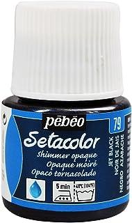 PEBEO Setacolor - Pintura para Tela (Opaca tornasolada, 45 ml), Color Negro