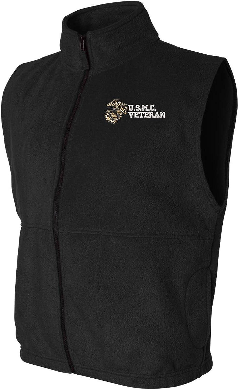 U.S.M.C. Veteran Sierra Pacific Full Zip Fleece Vest