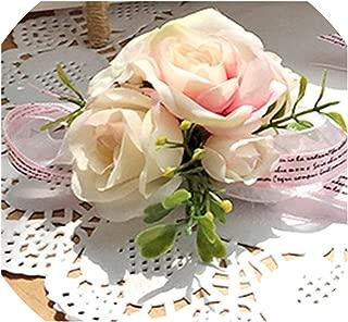 Wrist Corsage Bridesmaid Sisters Hand Flowers Artificial Bride Flower Wedding Dancing Party Decor Prom,1piece wrist1