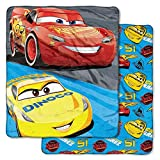 """Cars3 Disney """"Fast Partners"""" Double-Sided Cloud Throw, 60""""x 70"""""""