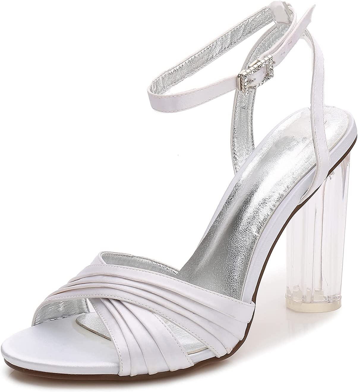 NYPB Women's Crystal Sandals Open Toe St High 3.94in Pumps Austin Mall Limited price Heels