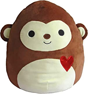 """Kelly Toy Squishmallow Valentines Squad Edition (Momo 16"""") Brown Monkey"""
