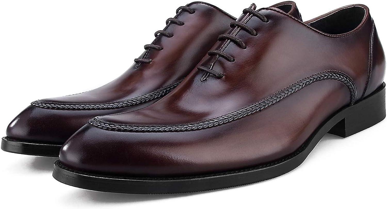 Oxford skor, England Läther Brush Craft Handgjorda sydda sydda sydda skor för sydlinor, Business Pointy skor, YN308 -LV2  ärlig service