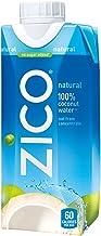 ZICO Natural 100% Coconut Water Drink, No Sugar Added Gluten Free, 11.2 fl oz, 12 Pack