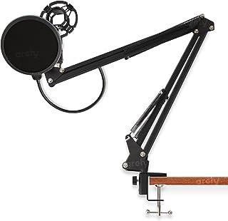 Archy Soporte de Brazo Flexible para micrófono de pinza clip tipo tijera plegable para mesa escritorio con filtro anti-pop...