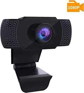 1080P Webcam with Microphone, PC Laptop Desktop Computer USB 2.0 Full HD Web Camera for Video Calling, Studying, Conference, Recording, Gaming with Rotatable Clip …