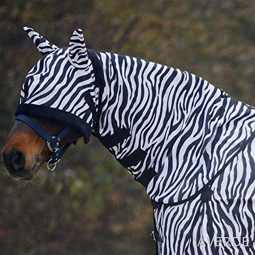Waldhausen Fliegenhalsdecke Zebra, WB, schwarz/weiß, Warmblut