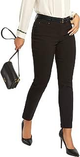 89th + Madison Women's Millennium Stretch Five Pocket Straight Leg Pants