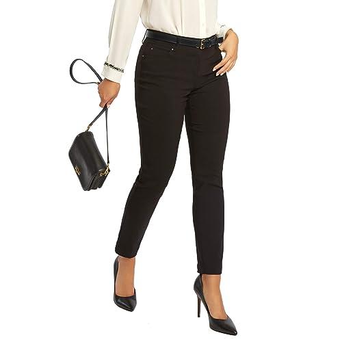 5204646524e 89th + Madison Women s Five Pocket Stretch Straight Leg Pants