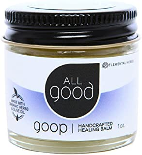 All Good Goop Organic Handcrafted Balm & Ointment | For Dry Skin/Lips, Cuts, Scars, Blisters, Diaper Rash, Insect Bites, Sunburn, & More (1 oz)