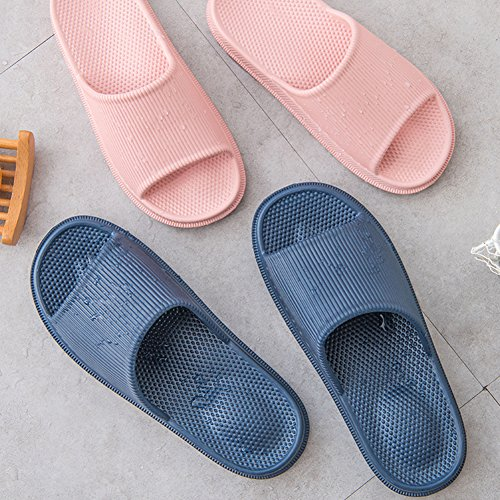 Zapatillas de estar por Casa Ultraligera de hombre y mujer, tira ancha, sandalia tipo chancla con función de masaje perfecto para verano, Celeste (Masajear el talón), 36/37 EU