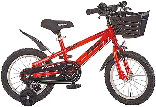 liquidación hasta el 70% GAIQIN Durable Bicicleta Infantil Infantil Infantil Bicicleta 3-5-6-7-8 años Freno de Mano de Niño y niña, Control de Seguridad (con Canasta) (Color   rojo, Tamaño   12inch)  punto de venta de la marca