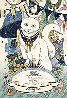 A2 しろい猫/ A2サイズの日本製額縁にぴったり!/ダイヤモンドアート /全面貼り付け/四角型(スクエア)/ビーズアート手芸キット1-146
