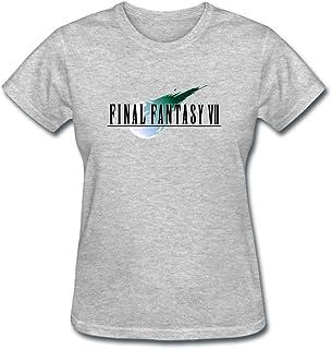 Wihuae Women`s Final Fantasy VII Design T Shirt Royal Blue