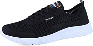 Oap Shoes For Men Mens Women's Lightweight Athletic Running Shoes Breathable Mesh Upper Walking Lovers Sneakers dt (Color : Blue, Size : 49 EU)