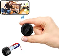 DZFtech Mini Spy WiFi Camera HD 1080P Portable Wireless Hidden Camera with App Live Streaming Control Night Vision Motion Activated Nanny Cam Spy Cameras for Car/Home/Office[2019 Upgraded]