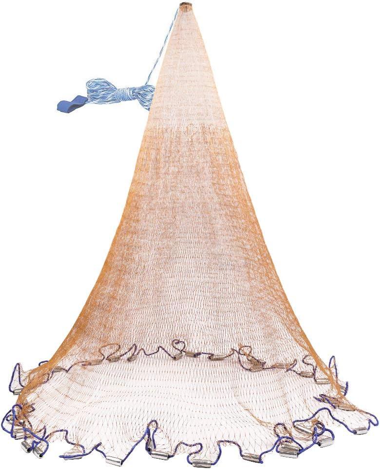 OTOEZ 3 4 5 6 8FT Radius Some reservation Sale item Throw Easy F Fishing Net Saltwater Cast