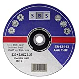 SBS - Disco de corte (25 unidades, 230 x 2 mm, acero inoxidable)