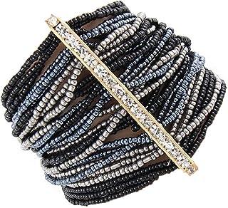 Joji Boutique Bejeweled Midnight Seed Bead Bracelet