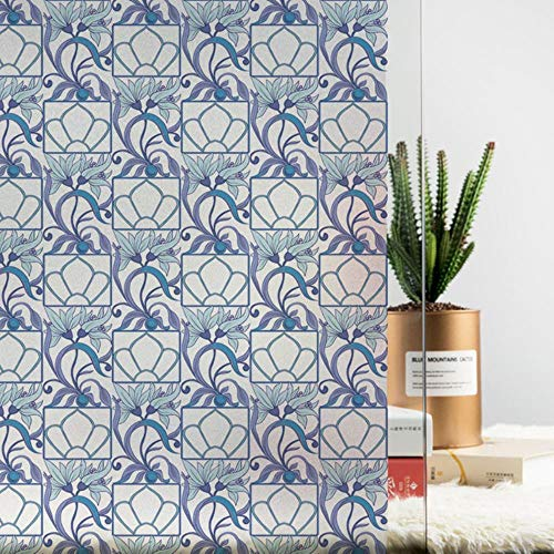 Statische raamsticker Glasfolie privacy Woondecoratie decoratieve glas-in-lood raamfolie, G 90x200cm