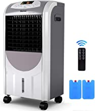 GOFLAME Air Cooler and Heater, Portable Evaporative Air Conditioner Fan Filter Humidifier with Ice Crystal Box, Remote Con...