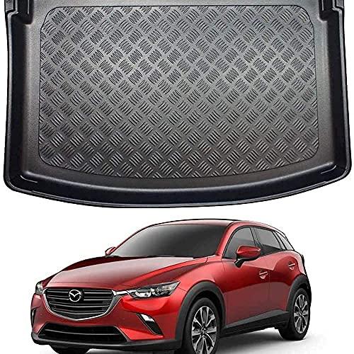 SKKLOPT Coche Goma Alfombrillas Maletero para Mazda CX-3 (2015 on), Impermeable Antislip Antisuciedad Boot Liner Mat Protectora Alfombra Accesorios