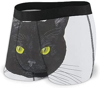 黒の猫 パンツ メンズ 下着 吸汗 速乾 通気 四角ショーツ 抗菌 防臭 肌着 男性用