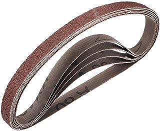 """3/8""""x 13"""" 80 kornslipbälte Aluminiumoxid sandpappersbälten för bärbar rems slipmaskin träfinish metall gips polering slipn..."""