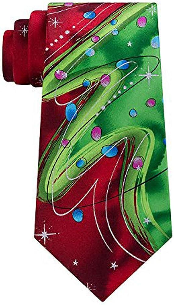 Men's Jerry Garcia Holiday Tie Necktie - Red Scales