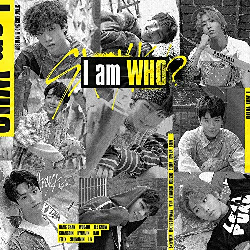 Stray Kids - I am WHO [I AM ver.] (2nd Mini Album) CD+Photobook+3 QR Photocards+On Pack Poster+Official Group Folded Poster+Extra Photocard