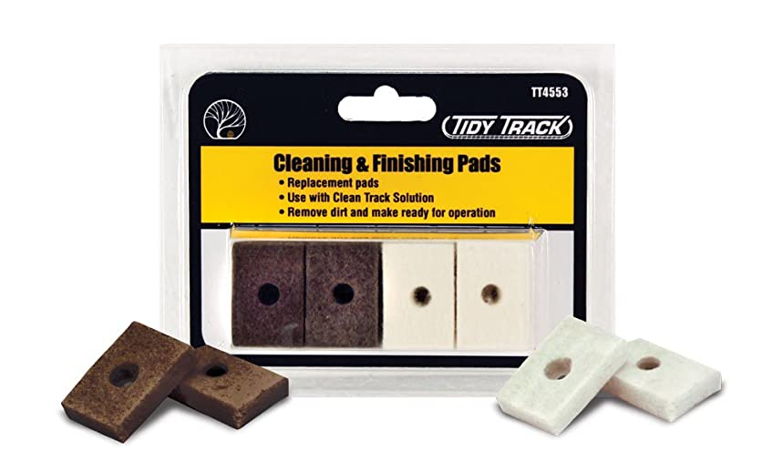 Woodland Scenics Tidy Track Cleaning & Finishing Pads (16)