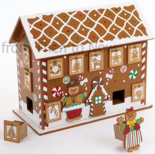 Heaven Sends @ Christmas Direct - Calendario dell'avvento in legno, 32,5 x 26 cm