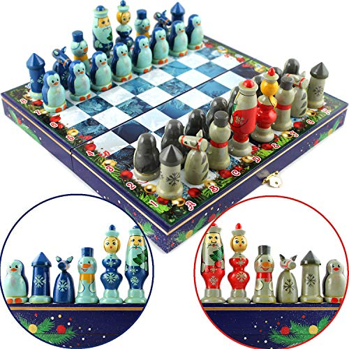 Chess for Kids - Christmas Chess Board for Kids - Childrens Games - Wizard Chess Set for Kids
