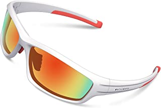 TOREGE Polarized Sports Sunglasses for Men Women Cycling Running Driving Fishing Golf Baseball Glasses EMS-TR90 Frame